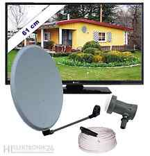 Digital Komplett-SAT-Anlage OFF45, LED TV 24LV4000, Sharp Single LNB,Koaxkabel