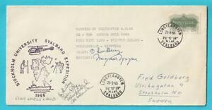 Norvège Helikopterpost Année 4.8.1966 Cachet Spécial Avec Signature Du Pilote-afficher Le Titre D'origine