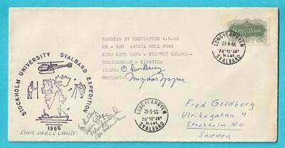 Norwegen Helikopterpost Jahr 4.8.1966 Sonderstempel Mit Unterschrift Des Piloten
