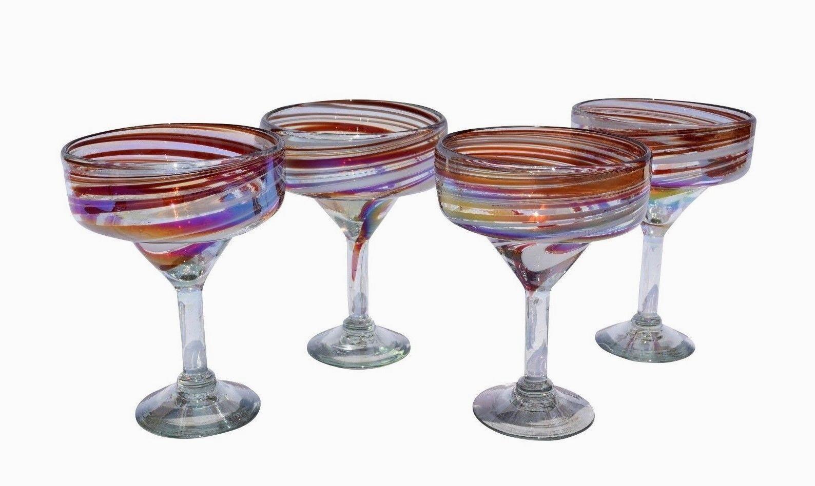 Vidrio soplado arte Margarita Tequila Ideal para regalos de boda Conjunto de 4