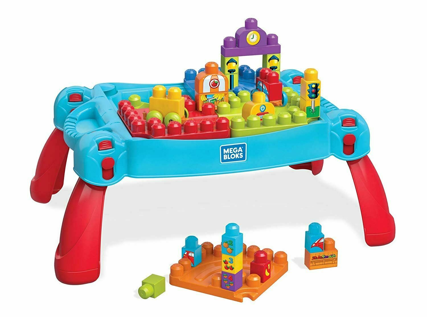 Fisher Price Mega Bloks Build & Learn Table Classic 30 Pieces