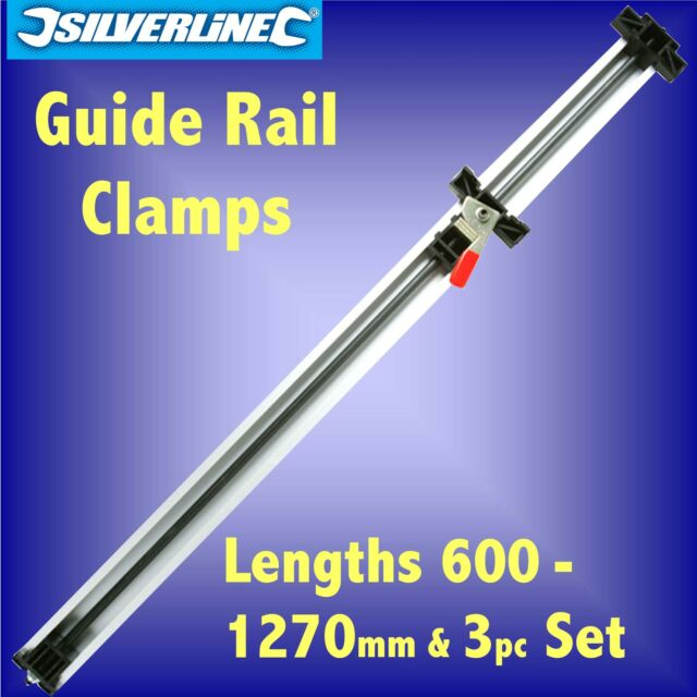 GUIDE RAIL CLAMP 600mm 900mm 1270mm bench cramp straight edge jigsaw router saw