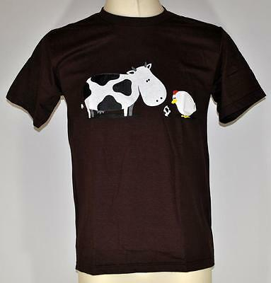 true Love cow and chicken animal party fun shirt Größe S-XL