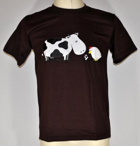 true Love cow and chicken animal party fun shirt Größe S-XL
