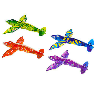 4 ~ Birthday Party Supplies Toys Favors Airplanes JURASSIC WORLD FOAM GLIDERS