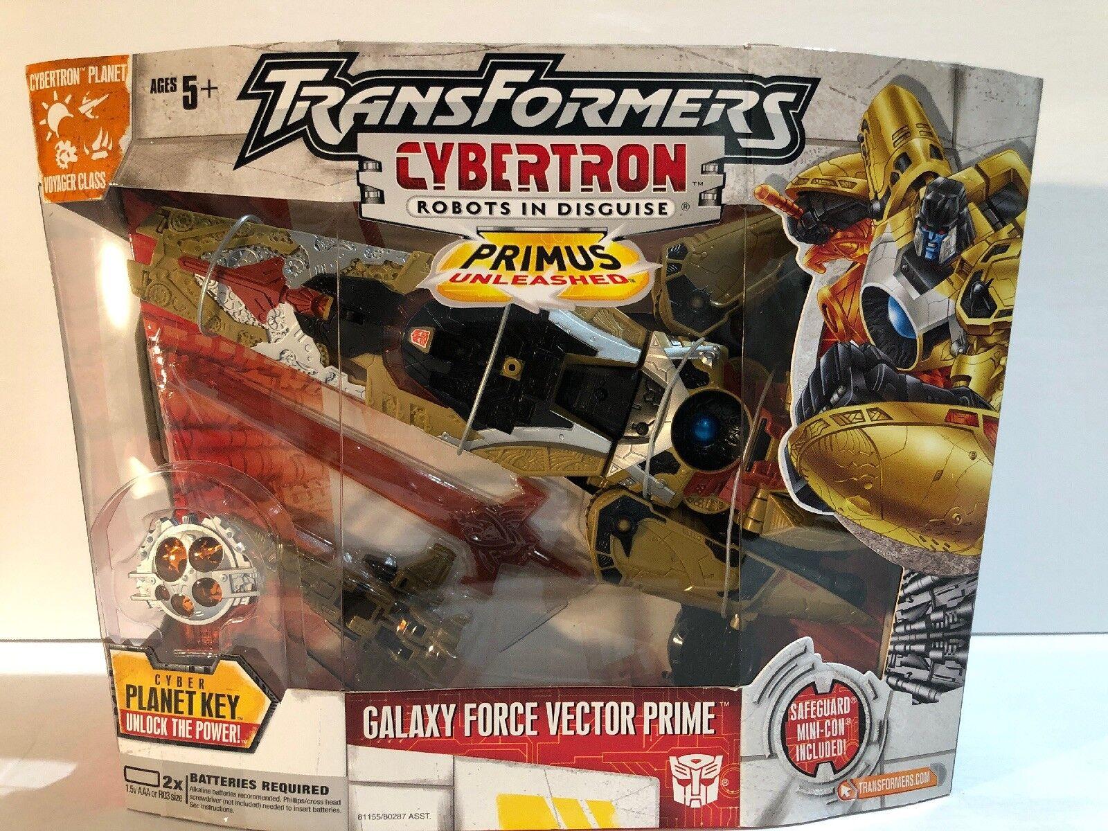 Hasbro Transformers Cybertron Voyager  Galaxy fuerza Vector Prime Figura De Acción