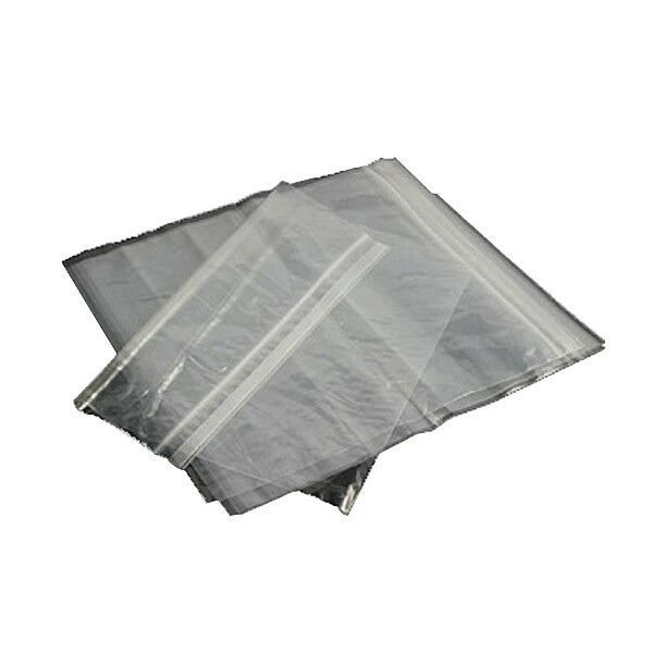 100 White//Clear Mylar Dispensary Bags Resealable Zipper OUNCE 28-56g Horizontal