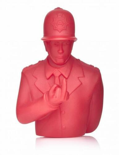 RUDE COPPER RED 4 VINYL ART TOY FIGURE APOLOGIES TO BANKSY