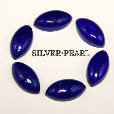 10 pic.natural Lapis Lazuli 8x10 mm oval shape cabochon with free shipping