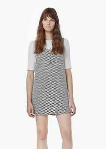Mango-Geometric-Pattern-Dress-Black-Size-UK-10-LF076-JJ-15