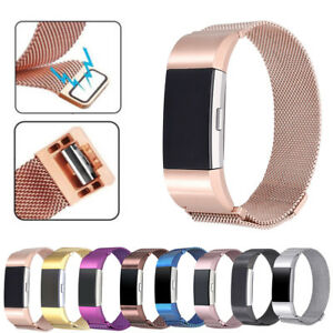 For-Fitbit-Charge-2-Replacement-Magnetic-Loop-Strap-Stainless-Steel-Wrist-Band
