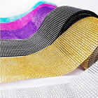 "1 Yards Diamond Mesh Crystal Rhinestone Wedding Wrap Roll Ribbon 4.6"" Home Decal"