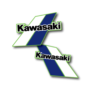 1984 Kawasaki KX 125 Tank Decals Die Cut Perforated