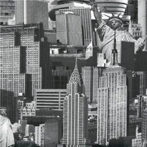 Detalles De Muriva Ciudad De Nueva York Diseñador Lujo Wallpaper Función Negroblanco 102503 Am Ver Título Original
