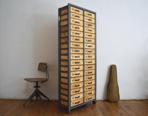 Schubladenschrank Vintage Alt Loft Antik Werkstattschrank Holz Groß Fabrik
