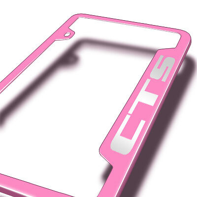 Cadillac CTS Pink Stainless Steel License Plate Frame