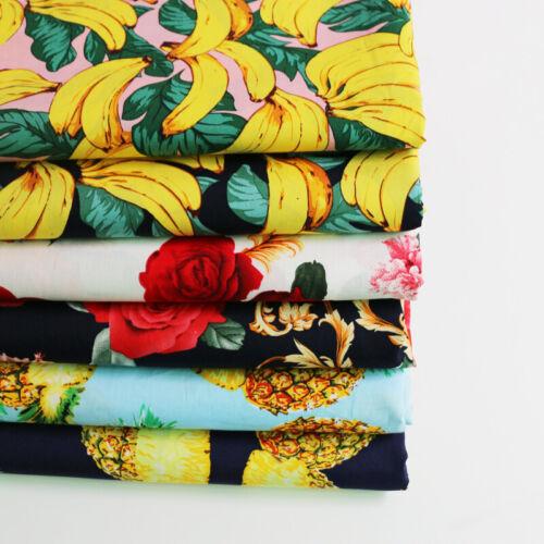 1yard*147cm Fashion Design Poplin Cotton Material For Dress Shirt Children