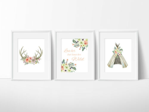 Arrows Kids Wall Decor Teepee Boho Tribal Nursery Print Dreamcatcher