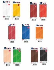 10 COLOURS TO CHOOSE FROM NEW FIMO SOFT 454G POLYMER MODELLING OVEN BAKE CLAY