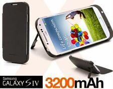 Custodia Flip Cover Batteria Esterna 3200mAh Samsung Galaxy S4 i9505 BIANCO