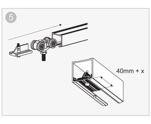 Hercules Plus Bi-folding Sliding Door System 1800mm