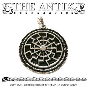 BLACK-SUN-CHAIN-925-Pendant-Necklace-Antique-Jewelry