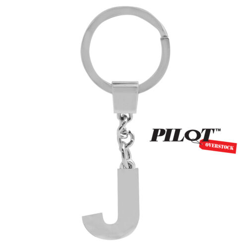US SELLER FAST SHIPPING Pilot Automotive Chrome Letter J Key Chain