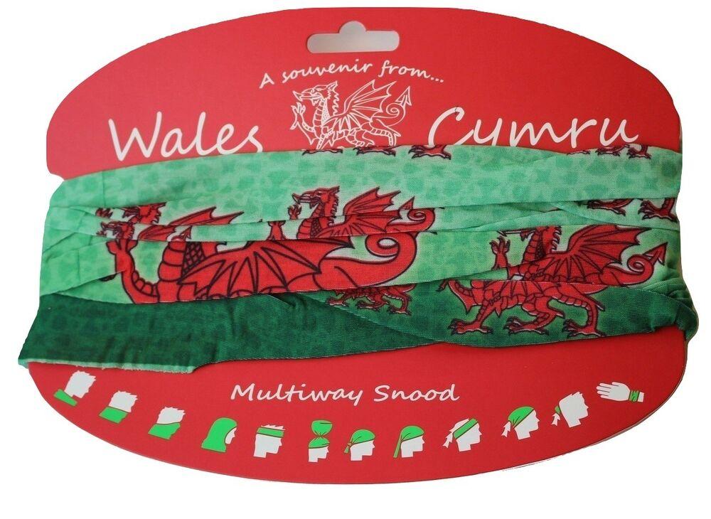 2019 Nouveau Style Wales Cymru Dragon Multibroche Snood Un Souvenir Du Pays De Galles Unisexe Limpide à Vue