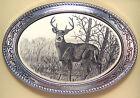 Belt Buckle Western Barlow Scrimshaw Carved Painted Art Deer Standing 592605 NEW