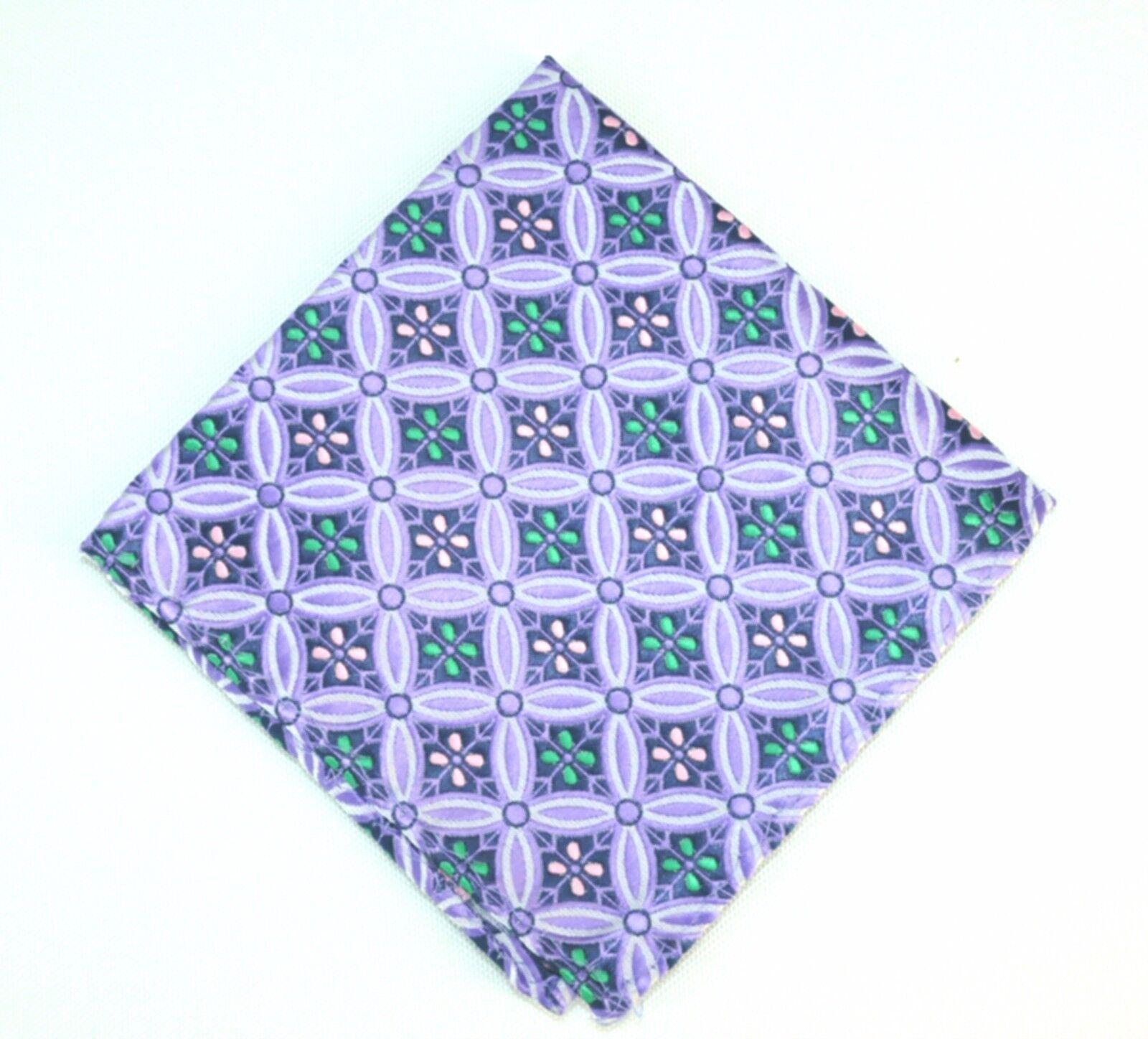 Lord R Colton Masterworks Pocket Square Salvador Tanzanite Silk - Retail New