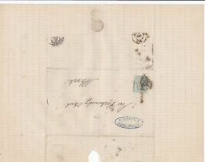 Spain 19th centuary stamps cover Ref 8295