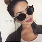 OVERSIZED ROUND CAT EYE Sunglasses BLACK womens large big huge xl xxl circle