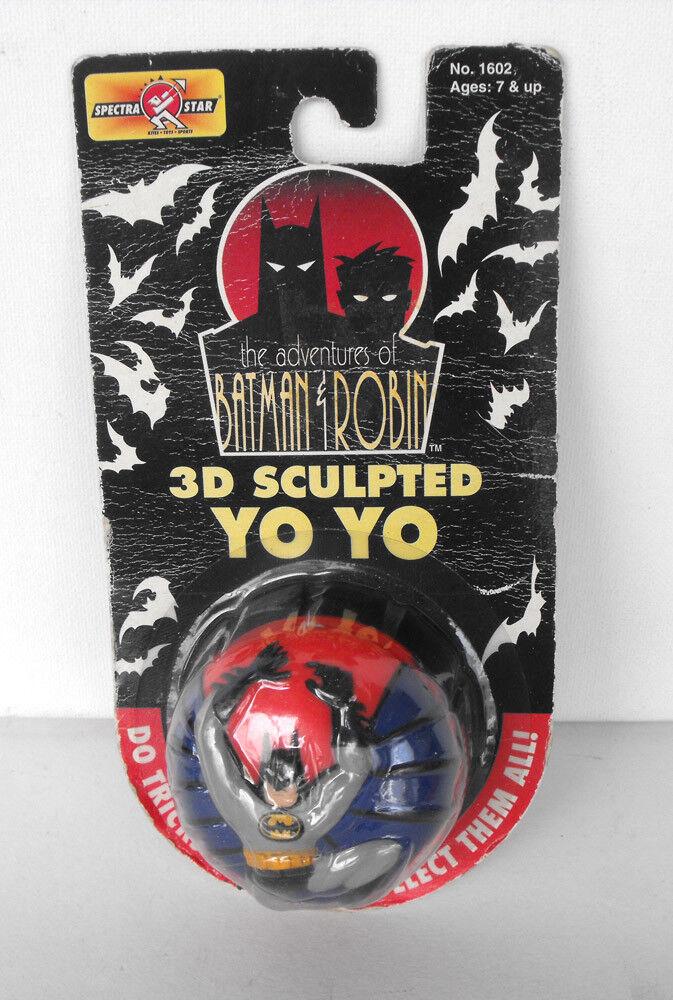 RARE BATMAN and Robin 3D 3D 3D Sculpted Yo Yo MINT on card 1995  Spectra Star 83efe9