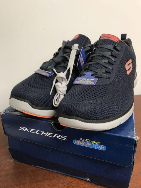 Skechers Flex Advantage 2 Athletic Shoes Mens Sz 14 Black Air Cooled Memory Foam