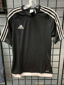 Details about Adidas Estro 15 Soccer Jersey Black/White