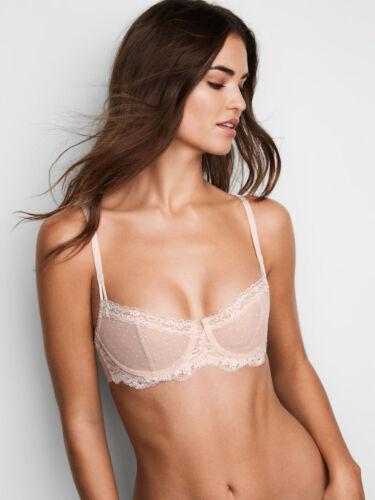 38DD White Nude Dot WICKED Dream Angels UPLIFT PushUp wopad Victorias Secret Bra