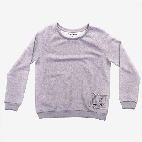 Hamnett Classic Crewneck Sweater in Grey Katherine Hamnett SAVE THE WORLD