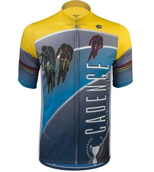 Aero Tech Designs Biking Tall Man Cadence Cycling Bike  Herren Jersey
