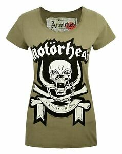 Amplified-Motorhead-March-Green-Women-039-s-T-Shirt