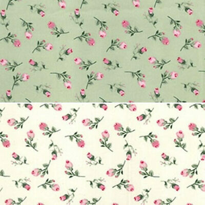 100/% Cotton Poplin Fabric Rose /& Hubble Sponge Lane Roses Floral Flowers