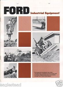 Details about Equipment Brochure - Ford - Industrial - Gannon Gill Triumph  Hughes 1972 (EB356)