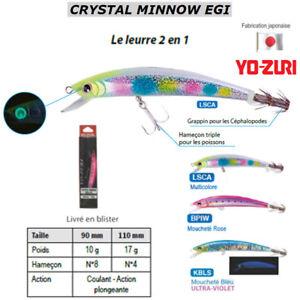 YO-ZURI-CRYSTAL-MINNOW-EGI-HYBRID-WITH-HOOK-FOR-FISH-or-SQUID-CUTTLEFISH