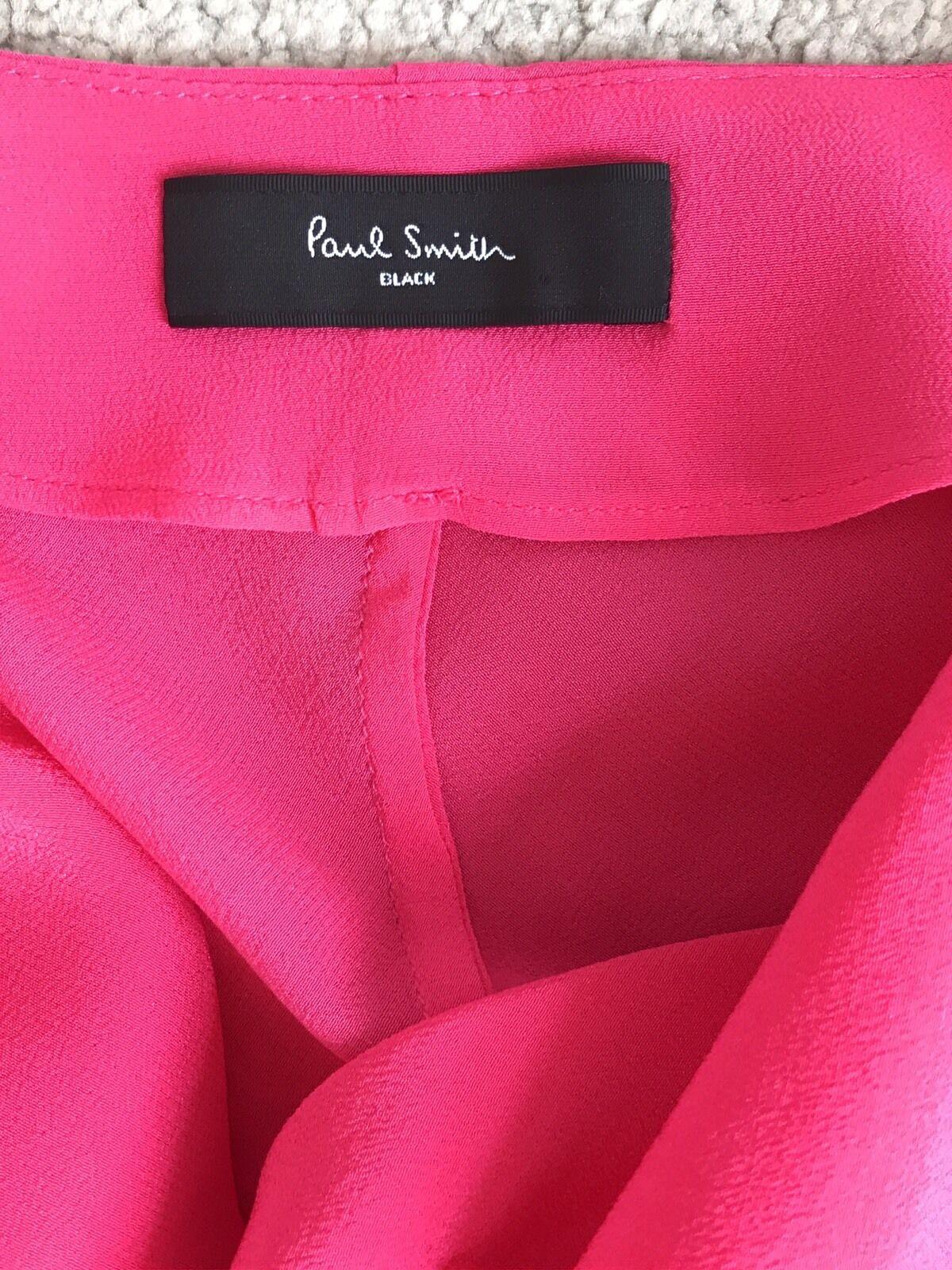 PAUL SMITH bellissimo abito seta seta seta rosa brillante con cappuccio collo e cintura SZ 12 nuovi contrassegni & 2e9f2b