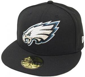 658e79f22 New Era Philadelphia Eagles Solid Black On Field Cap 5950 Fitted ...
