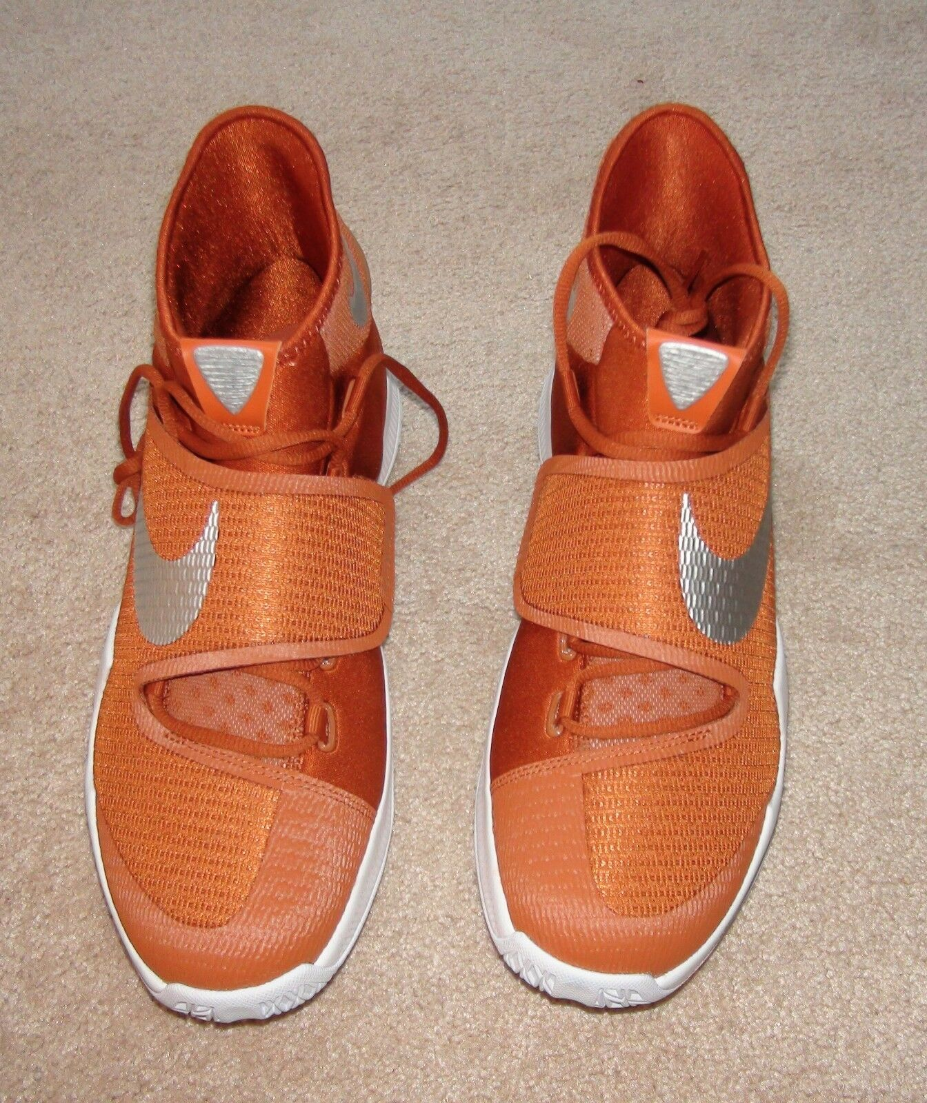 NIKE ZOOM HYPERREV 2018 TB BURNT ORANGE LONGHORN BASKETBALL 835439 802 NEW