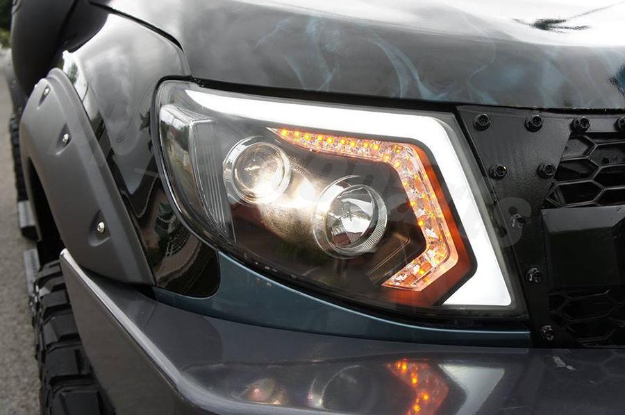 front black projector headlight lamp ccfl led lens ford. Black Bedroom Furniture Sets. Home Design Ideas