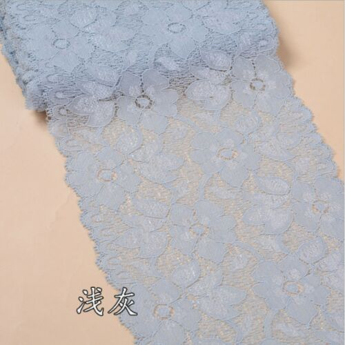 16 cm Largeur 1 Yd environ 0.91 m Fleur Stretch Dentelle Ruban De Couture Robe Jupe Artisanat