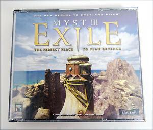Myst-III-Exile-Windows-Mac-2001-4CD-double-Jewel-Case-no-Manual