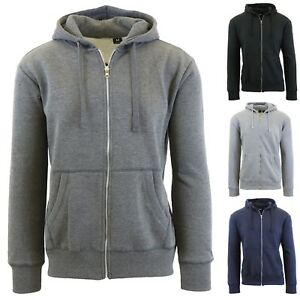 3e4df77d9 Details about Mens Zip-Up Hoodies Fitted Zipper Sweaters Sweatshirts Warm S  M L XL 2XL NWT