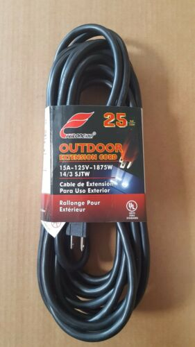 Electrical Extension Cord 25 50 100 ft Lengths 14//3 Gauge 3 Prong Heavy Duty